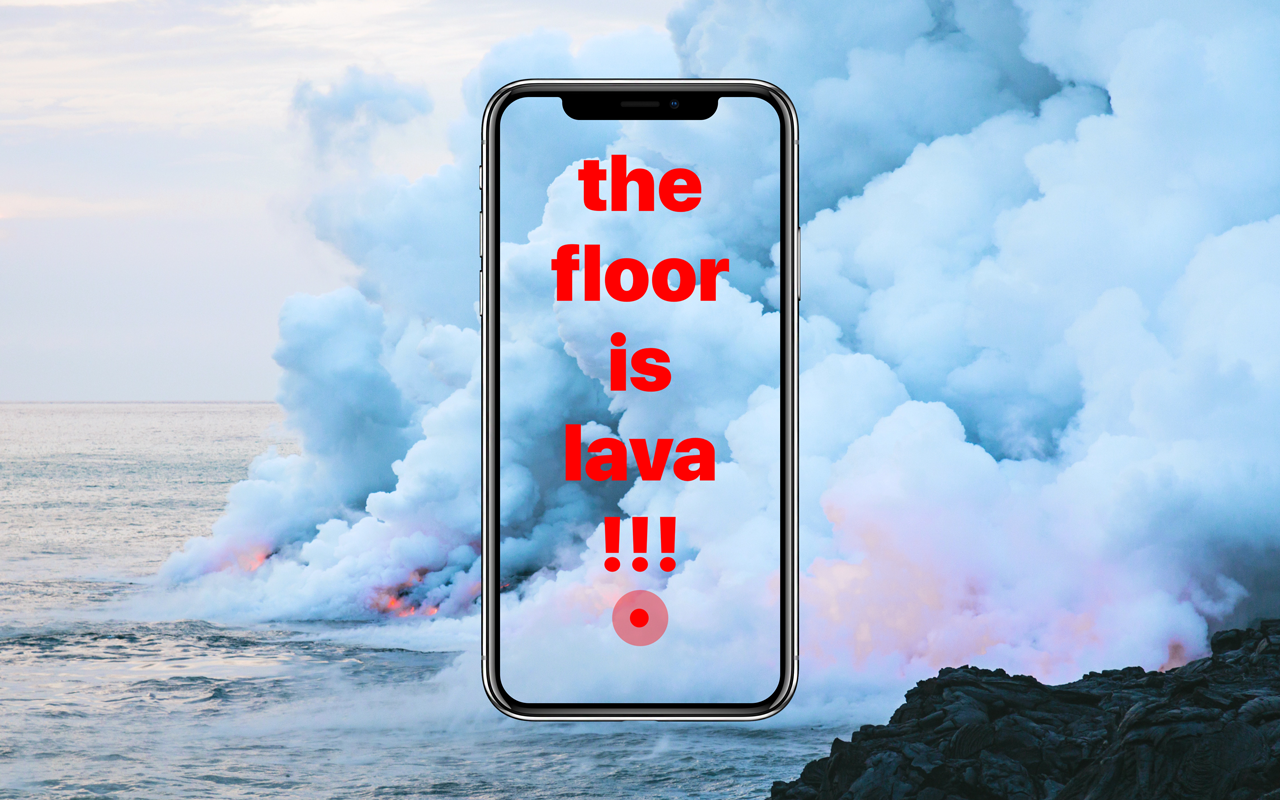 The Floor is Lava game developed under agile methodology